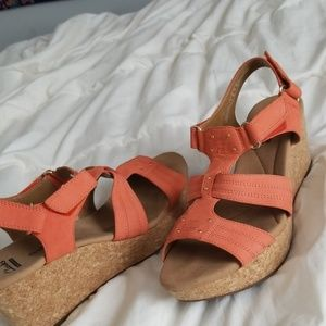 Clarks Shoes - Coral wedges